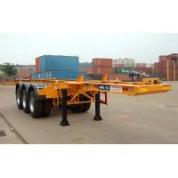 Wholesale Flatbed Shipping Container Delivery Trailer High Efficiency For Port Transport from china suppliers