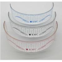 Quality High Accuracy Colored Brow Ruler Concave Convex Arc Shape For Measuring for sale