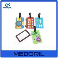 Wholesale Wholesale travel luggage tag cartoon silicone luggage tag with custom logo from china suppliers