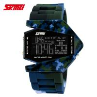Wholesale Colorful Camouflage Digital Wrist Watch PU Resin Band , Plane Style from china suppliers