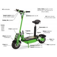 Wholesale Green Folding Electric Mobility Scooter Lightweight With Lead Acid / Lithium Battery from china suppliers