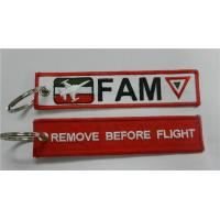 China FAM Remove Before Flight Made By Twill + Ring With Merrow Border Accept Custom Made for sale