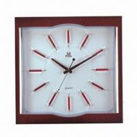 Wholesale No Voice Promotional Wall Clock, Made of Plastic, Customized Colors, Designs and Logos are Accepted from china suppliers
