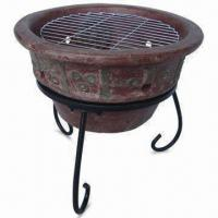 Quality Clay Barbecue, Includes Wire Stand, Metal Grate and Wire Grill for sale
