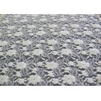 Wholesale Washable Brushed Floral Lace Stretch Fabric / NylonCotton Spandex Fabric CY-LQ0043 from china suppliers