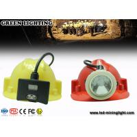 Wholesale 0.38M Cable White Color Coal Miners Headlamp , 8000 lux IP68 Miners Hard Hat Light from china suppliers