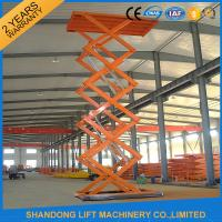 Wholesale Warehouse or Home Stationary Hydraulic Scissor Lift Cargo Scissor Lift , Orange Blue from china suppliers
