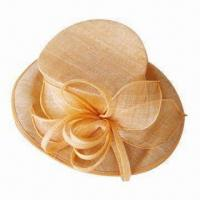 China Fashionable Sinamay Hat, Suitable for Evening or Fun Occasions, OEM Orders are Welcome on sale