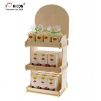 Buy cheap Counter Top Wooden Display Racks 3-Layer Wood Display Shelf For Retail Store from wholesalers