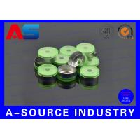 Wholesale 20mm Green Aluminum Flip Off Cap For 10mL Chemistry Pharmaceutical Vials / Bottle from china suppliers