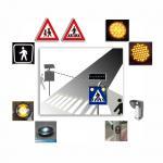 Solar Safety Alert Traffic Control System , Intelligent Pedestrian Crossing Warning System