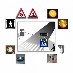 Quality Solar Safety Alert Traffic Control System , Intelligent Pedestrian Crossing Warning System for sale