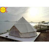 Wholesale Outdoor Inflatable Tent Waterproof Cotton Canvas Family Camping Bell Tent Indian Teepee Tent from china suppliers