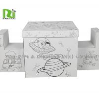 Wholesale Recyclable Foldable Painted DIY Corrugated Cardboard Toys Furniture By Kids from china suppliers
