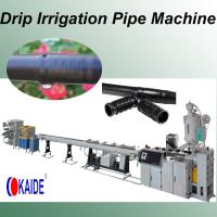 Quality PE drip irrigation pipe extrusion line Inlaid Round Emitter KAIDE factory for sale