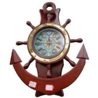 Wholesale Wooden Ship Wheel with Clock from china suppliers