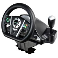 Wholesale video game steering wheel gaming racing car wheel with foot pedal for PC, PC360(X-INPUT node in PC), PS2, PS3 from china suppliers