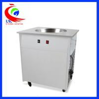 Wholesale Flat Pan Fried Ice Cream Roll Machine With single pan double pan from china suppliers