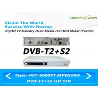 Wholesale Dual Tuner DVB T2 Digital Set Top Box  , AVC Digital Terrestrial TV Receiver from china suppliers