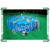 Wholesale Customize Round Ground Metal Frame Inflatable Swimming Pool For Family from china suppliers