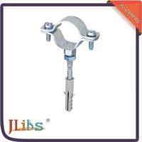 Wholesale Cast Iron Pipe Clamps , Wall Mount Pipe Bracket With Nut Tapping Screw Nylon Plug from china suppliers