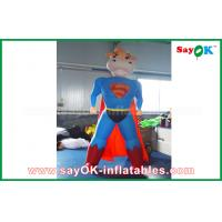 Wholesale Blue / Red Inflatable Superman Cow Customized Animal Character Inflatable Model from china suppliers