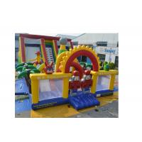 Wholesale Kids Amusement Park Slip And Slide Inflatable Double Slide 7 x 5 x 3.5m from china suppliers