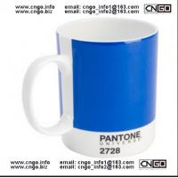 Quality Export PANTONE colors fashion cup 386C.numbers wholesale mug custom ceramic mugs for sale