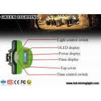 Wholesale Green LED Mining Headlamp 6.4 Ah with OLED screen with PP meterial from china suppliers