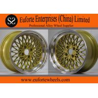 Wholesale 15 inch Aluminum Tuning Wheels Golden Custom Euro Style Rims / Colorful Wheel from china suppliers