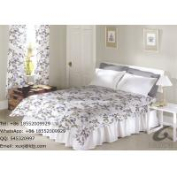 Wholesale Light Leaves Design Polyester Bed Sheets , Flower Printing Bedroom Bedding Sets from china suppliers
