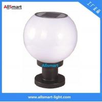 Wholesale 10LED / 12LED / 16LED Globular Solar Pillar Gate Lamp Round Solar Fence Post Cap Light Can Use E27 Bulb for Garden Wall from china suppliers