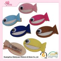 Wholesale Colorful Handmade Baby Hair Accessories Felt Fish Hair Clip For Kids from china suppliers