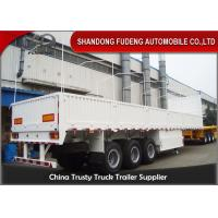 Wholesale Tri Axle Side Wall Semi Trailer With Dropping Side Walls 1.5mm Steel Plate from china suppliers