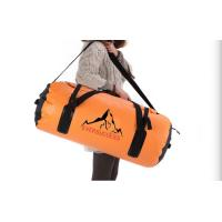 Wholesale 60L Orange Extra Large Sports Duffel Bag Waterproof Barrel Bag Holdall Shoulder 600D from china suppliers