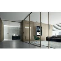Buy cheap Meeting Room Clear Glass Partition Walls With Laminated Glass Panel ISO 12543 from wholesalers