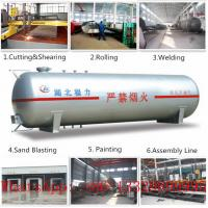 CLW brand mini 8,000L bulk surface LPG gas storage tank for sale(CLG1600-8), factory price 8m3 lpg gas storage tank