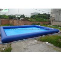 Wholesale Squares / Gardens Big Inflatable Baby Pool , Blue Heat Welding Inflatable Family Pool from china suppliers