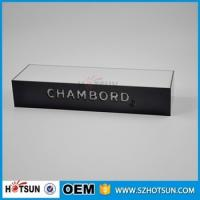 Buy cheap Table counter acrylic led stand wine display with led base from wholesalers