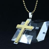 Wholesale Fashion Top Trendy Stainless Steel Cross Necklace Pendant LPC409 from china suppliers
