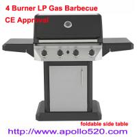 China Gas Barbecue Grill with foldable side table on sale