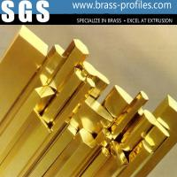Buy cheap Long Using Life Brass Bar / Copper Strip In Brass Profiles Made In China from wholesalers