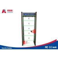 Wholesale 6 zones ZA-600E frame gold walk through metal detector inspection airport hotel sensitive from china suppliers