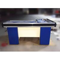 Wholesale Metal Steel Supermarket  Checkout Counter Cashier Table With Conveyor Belt from china suppliers