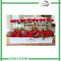 Wholesale Rectangular Flower Gift Boxes 36 * 12 * 9 inches with Gray Board Material from china suppliers