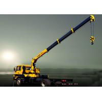 Wholesale Durable Heavy Things Lifting Telescopic Boom Truck Mounted Crane , 6.3T from china suppliers