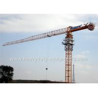 Wholesale Tower crane with free height 77m for max load of 25 tons equipped a hydraulic self raising mechanism from china suppliers