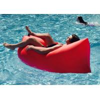 Wholesale Waterproof Nylon Inflatable Sleeping Bag , Comfortable Inflatable Bean Bag from china suppliers