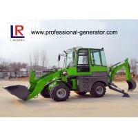 Wholesale Green Heavy Construction Machinery , 1600kg Load Mini Backhoe Wheel Loader from china suppliers