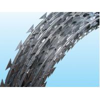 Wholesale Iron / Stainless Steel Galvanized Barbed Wire Length 10MM - 65MM Neat Appearance from china suppliers